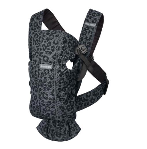 BabyBjörn μάρσιπος Mini 3D Mesh Γκρι leopard