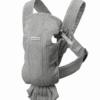 BabyBjörn μάρσιπος Mini 3D Mesh Ανοιχτό Γκρι