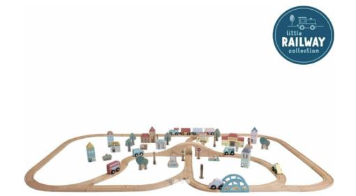 LITTLE DUTCH Σετ παιχνιδιού τρενάκι με ράγες και οχήματα