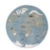 Παιδικό χαλί Arctic World στρογγυλό 150Χ150 cm