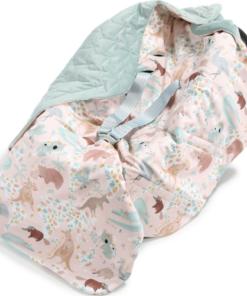 La Millou Organic Jersey Car Blanket DUNDEE & FRIENDS pink smoke mint