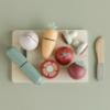 Little Dutch ξύλινος δίσκος κοπής με λαχανικά