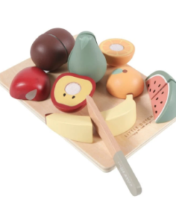 Little Dutch ξύλινος δίσκος κοπής με φρούτα