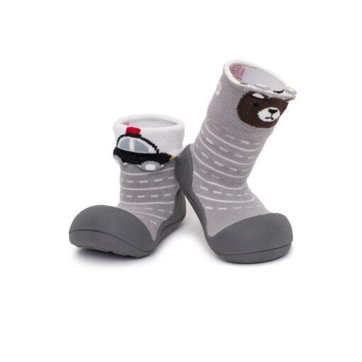 Βρεφικά ανατομικά παπούτσια Attipas Two Face grey