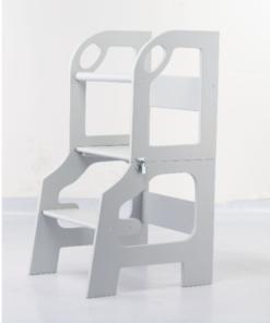 Eco πύργος εκμάθησης με τραπέζι καρέκλα σε ένα με σκαλοπάτι γκρι