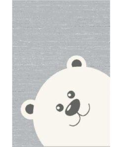 Παιδικό Χαλί Γκρι Αρκουδάκι 135x190cm