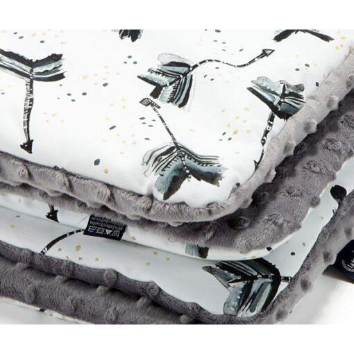 La Millou παιδική κουβέρτα ROYAL ARROWS GREY