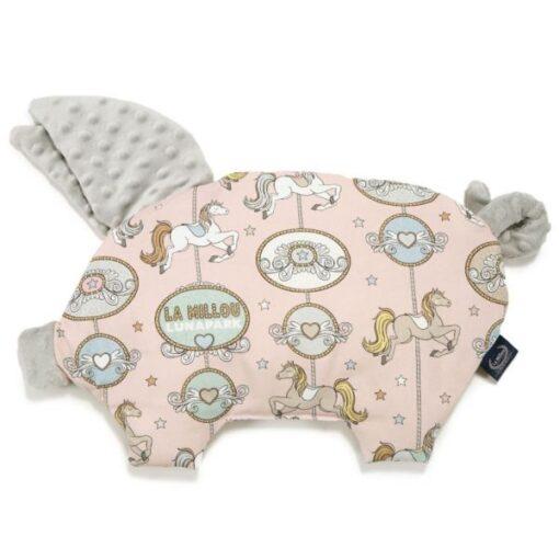 La Millou μαξιλάρι νεογέννητου & παρηγοριάς SLEEPY PIG DREAM LUNAPARK LIGHT GREY