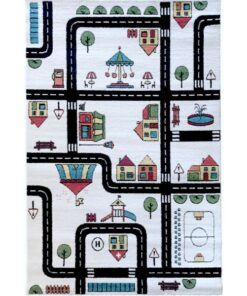 Παιδικό χαλί Αυτοκινητόδρομος Roadmaps in color 135 X190