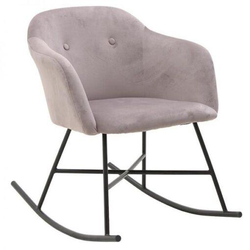 Κουνιστή πολυθρόνα Dusty Pink Velvet