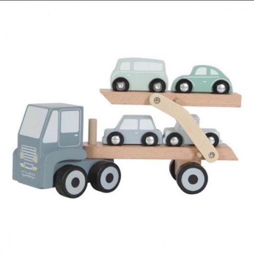 Little Dutch Ξύλινο Φορτηγό με Αυτοκίνητα