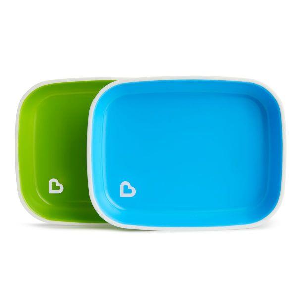 Munchkin Πιάτα Φαγητού με αντιολισθητικό πάτο Μπλε Πράσινο