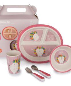 Παιδικό σετ Φαγητού Bamboo Fibre pink