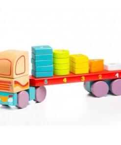 Cubika Ξύλινο φορτηγό με καβύλιες Γεωμετρικά Σχήματα